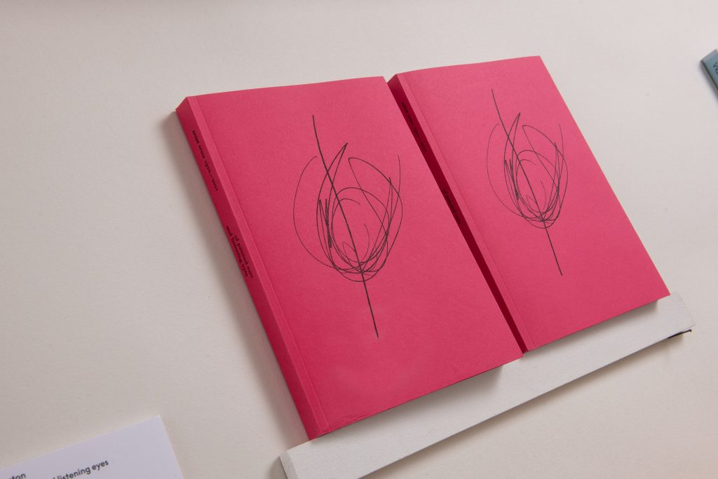 <I>of painted ears and listening eyes</I><br>Sam Winston<br>2021<br>Artist's book<br>24x20x3cm