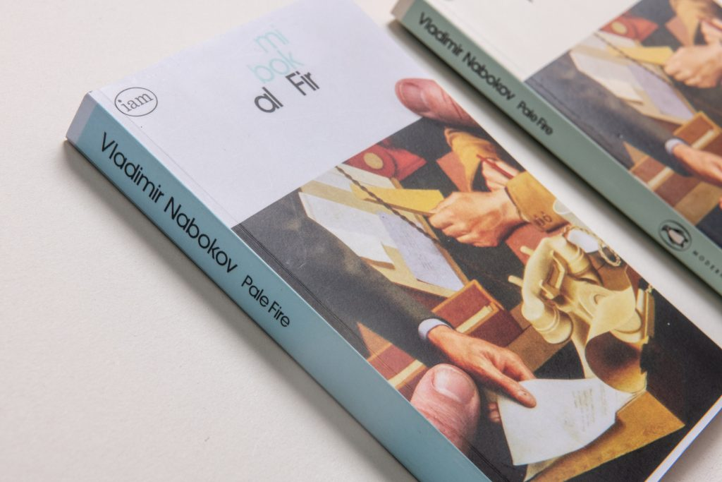 <I>Reading/Handling/Editing: Pale Fire</I><br>Gill Partington<br>2021<br>Digital printing on paper<br>13x20x2cm