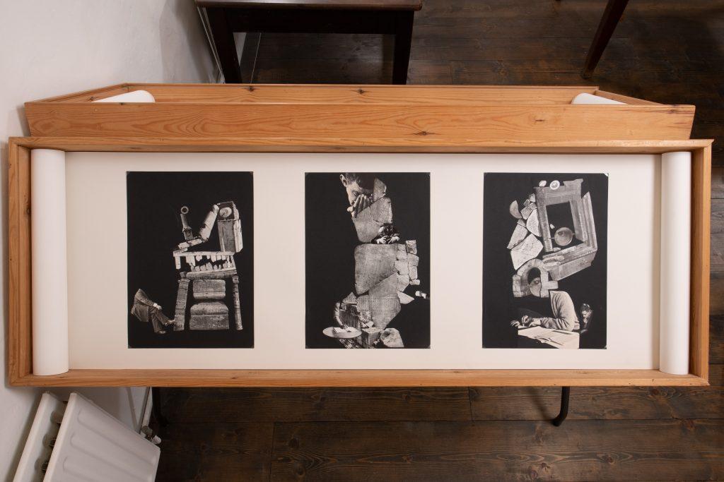 <I>The Book</I><br>Chris Kohler<br>2021<br>Collage<br>A3 [6]