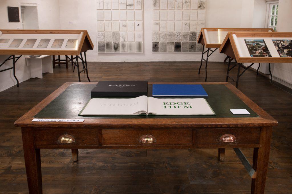 <I>Blue & Green</I><br>Ane Thon Knutsen<br>2020<br>Ink on 48 gsm newsprint<br>29.7x42cm [2]